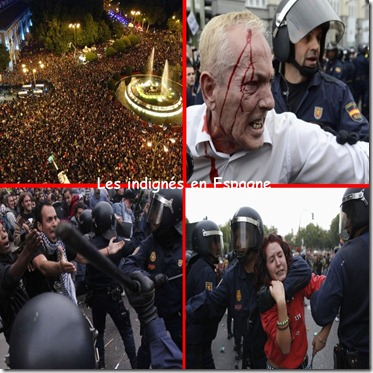 Manifestation des indignés Espagne