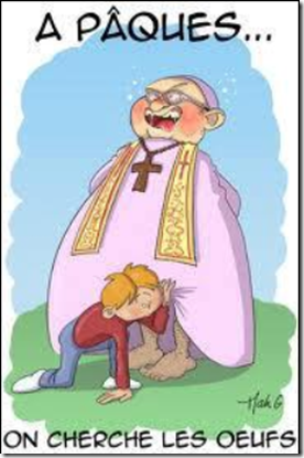 prêtre pédophile oeuf de paque