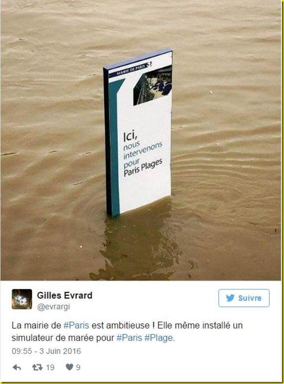 paris plage crue seine 2